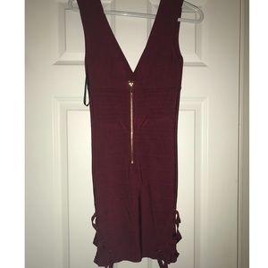 Bebe Maroon Dress
